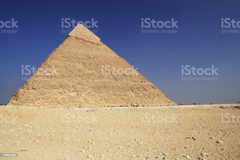 The Pyramid in Cairo stock photo