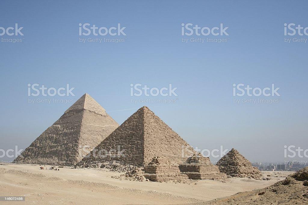 The pyramids at Giza royalty-free stock photo