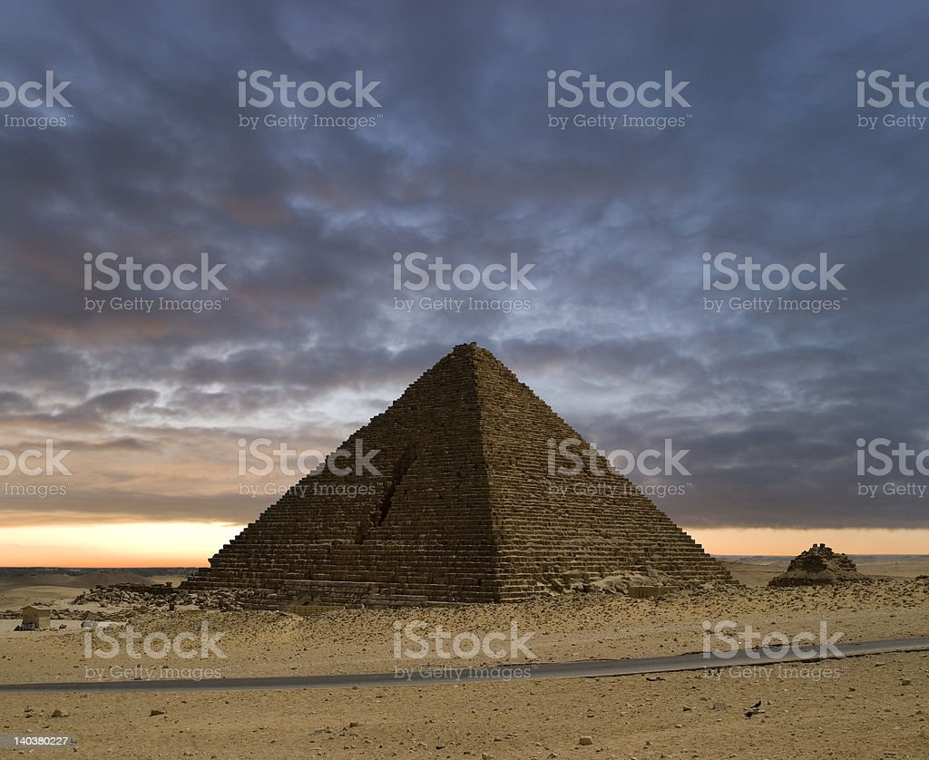 The Pyramids New Day stock photo