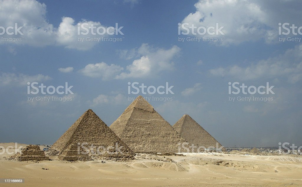 The Pyramids of Giza and Cairo's Suburbs royalty-free stock photo