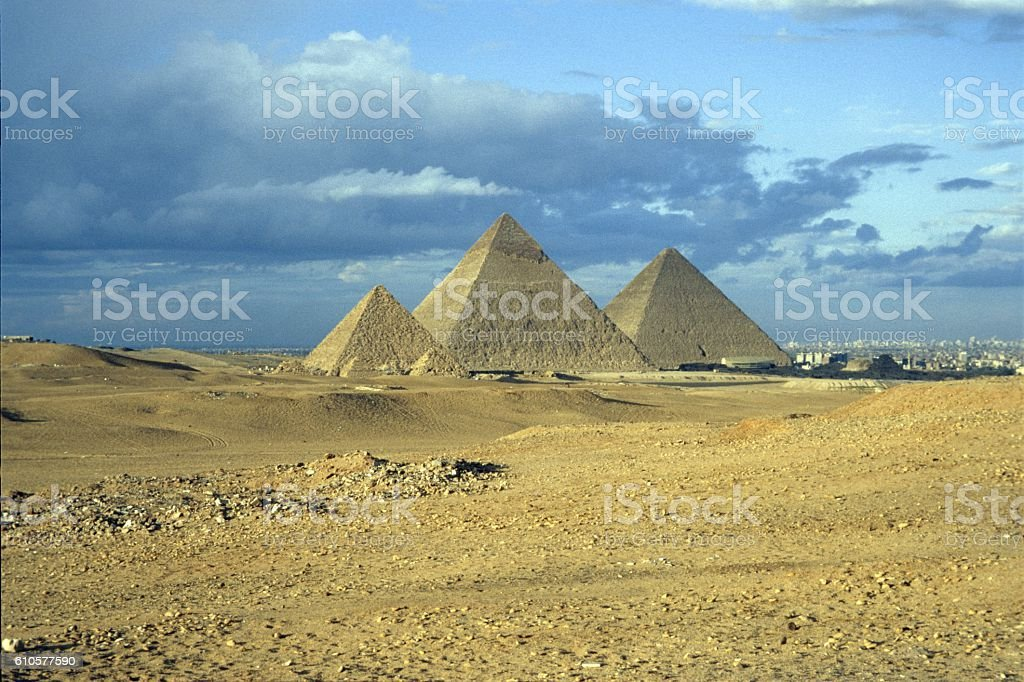 The Pyramids of Giza, Egypt stock photo