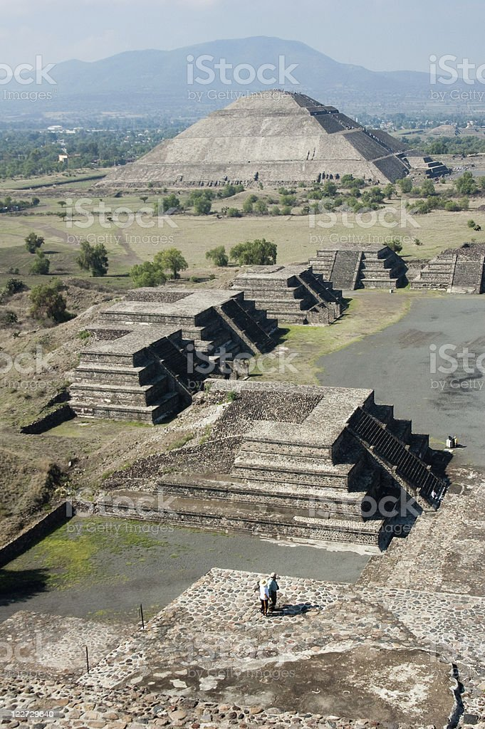 The pyramids of Teotihuacan in Mexico stock photo