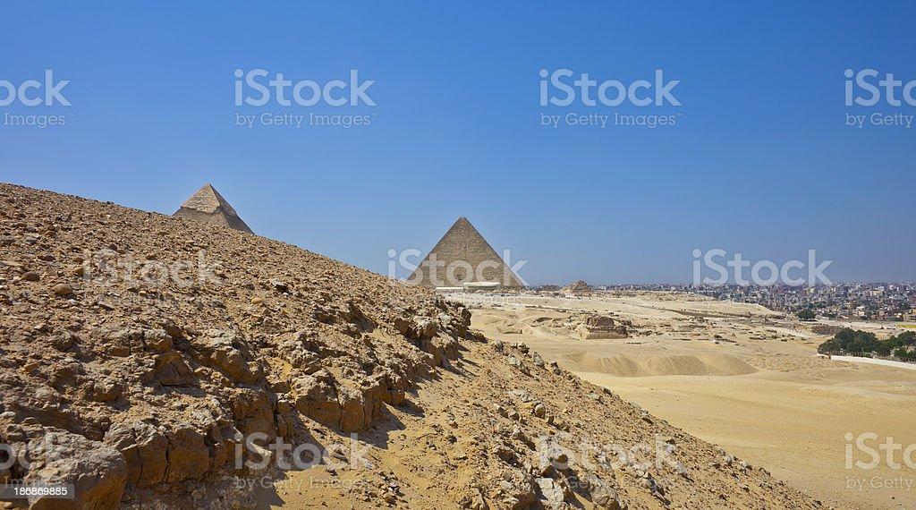The Pyramids Plateau royalty-free stock photo