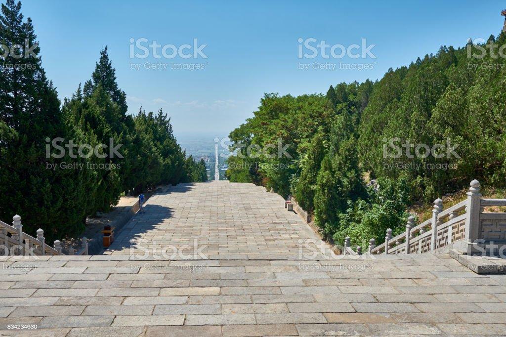 The Qian tomb stock photo