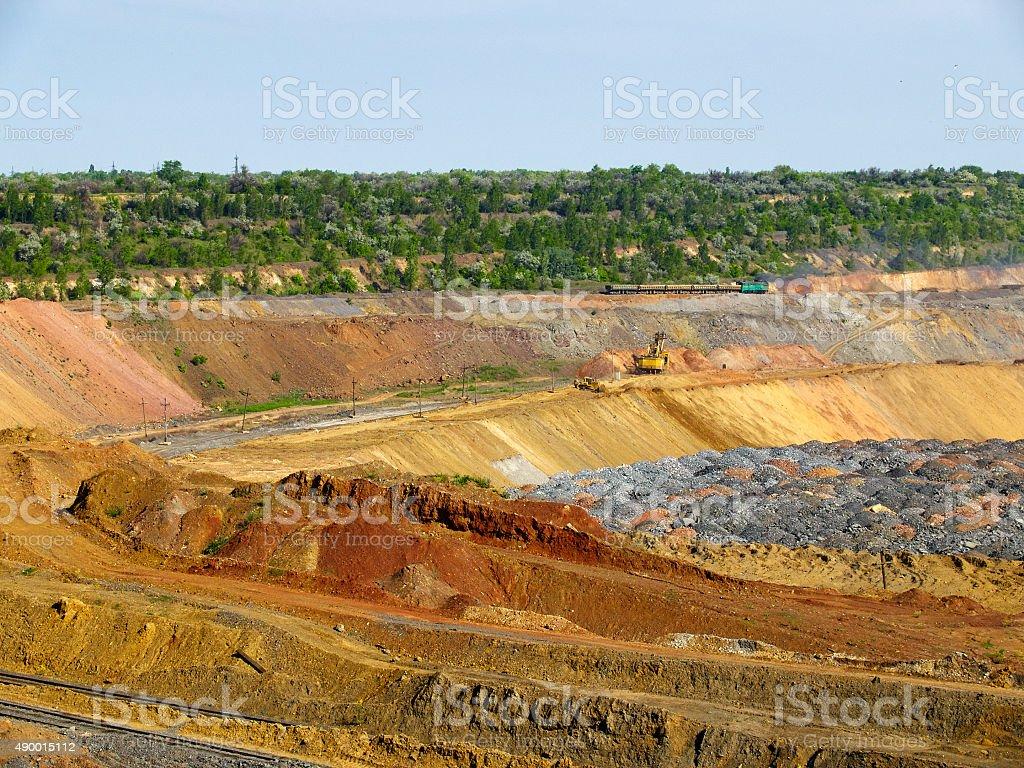 The quarry stock photo