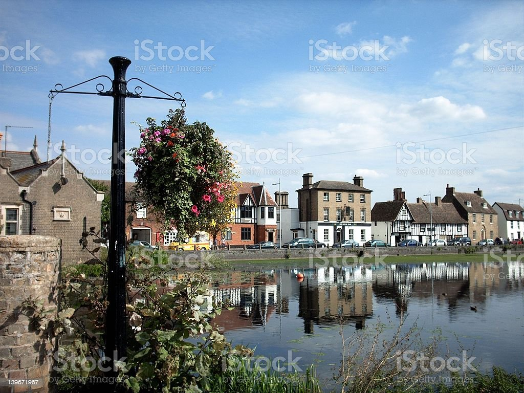 The Quayside at Godmanchester, Cambridgeshire, England. August 2 royalty-free stock photo