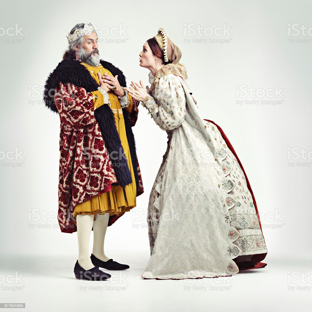 The Queen gets what she wants! stock photo