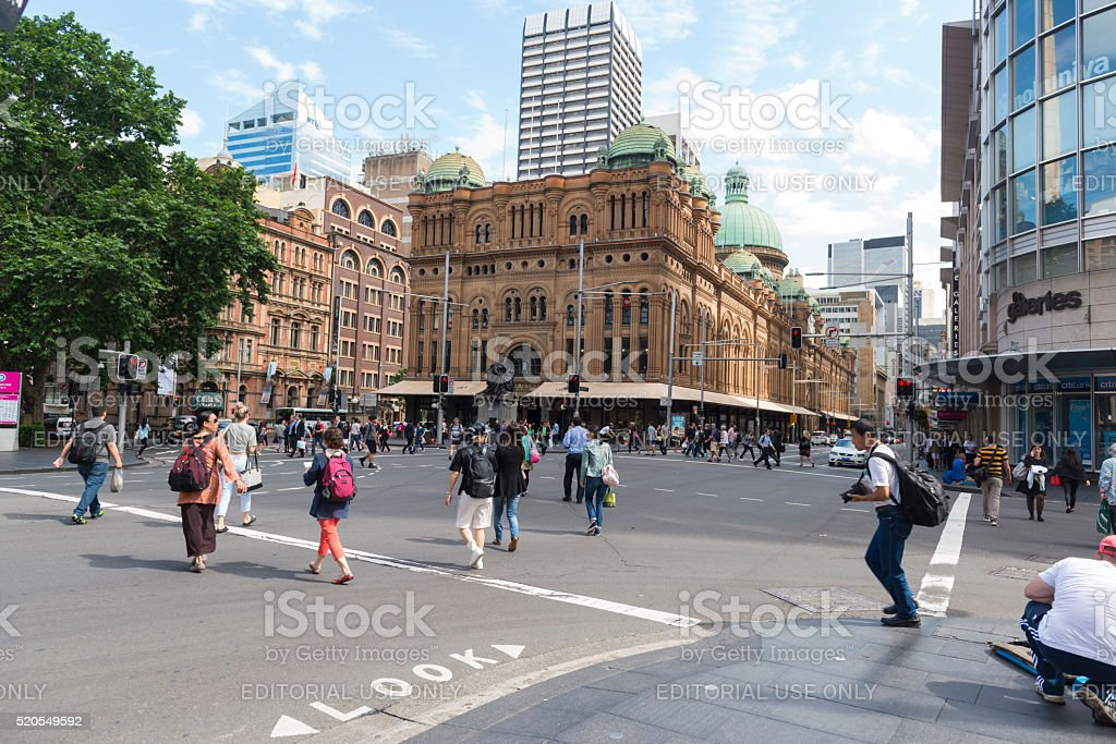 The Queen Victoria Building, Sydney Australia stock photo