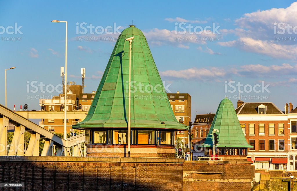The Queen's Bridge in Rotterdam - the Netherlands stock photo