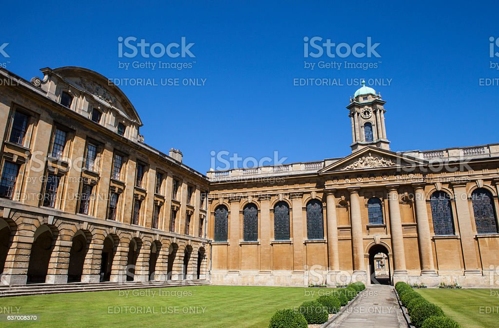 The Queens College Oxford stock photo