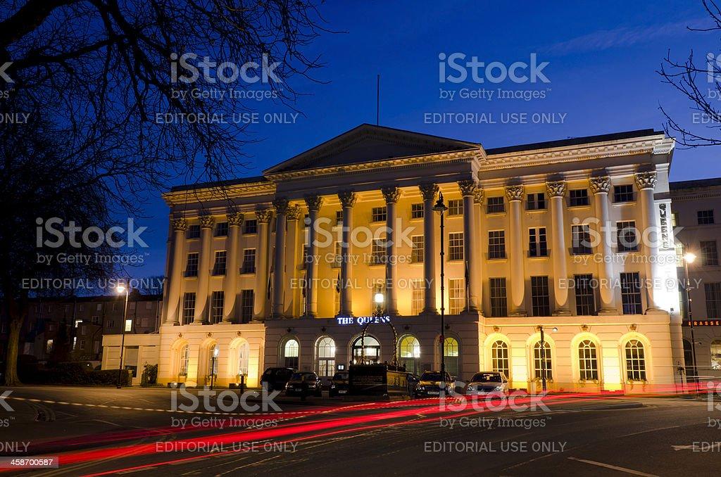 The Queens Hotel, Cheltenham, England stock photo