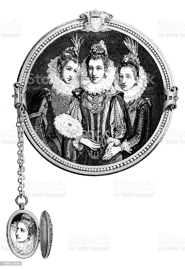 The Queen's Marie pendant, Mary Queen of Scots stock photo