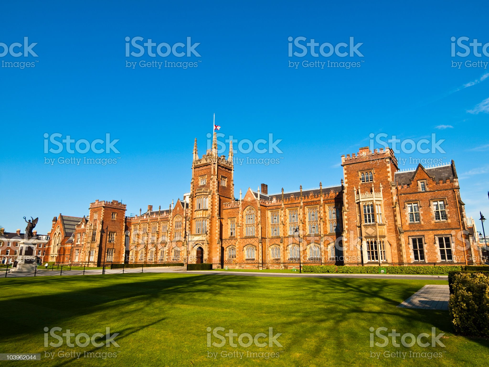 The Queen's University campus in Belfast, Northern Ireland royalty-free stock photo