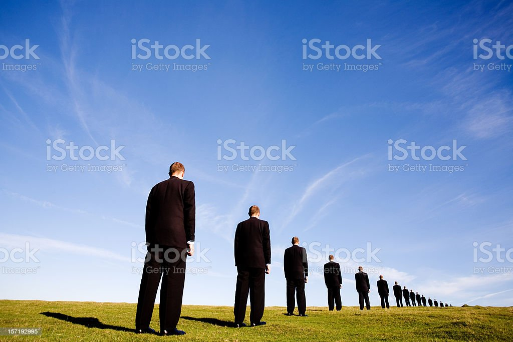 The queue royalty-free stock photo