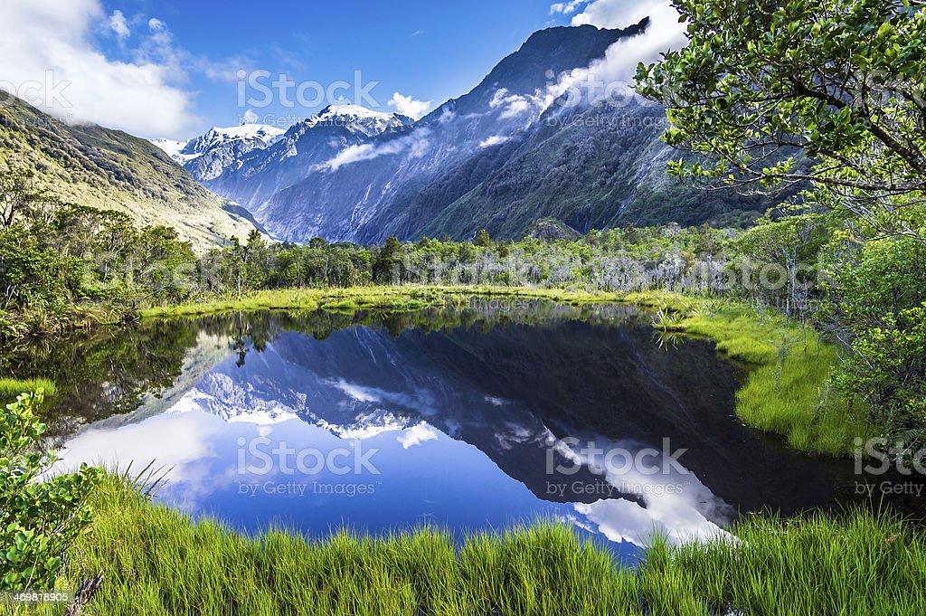 The quiet lake stock photo