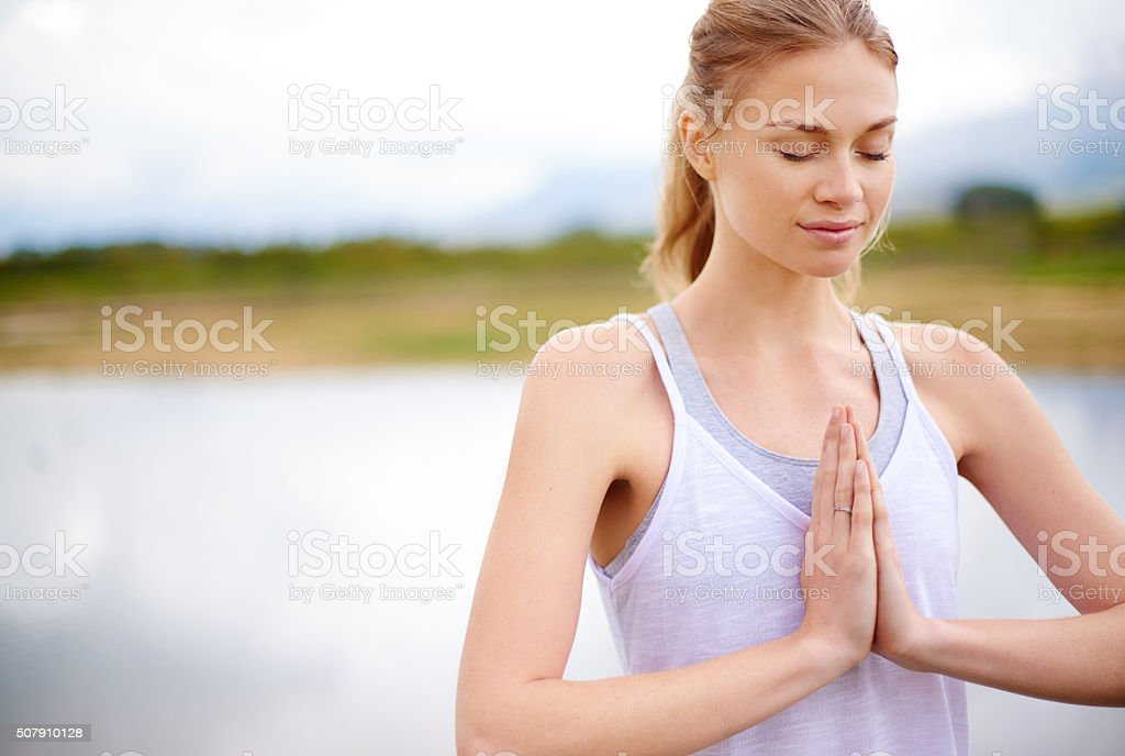 The quieter you become, the more you can hear stock photo