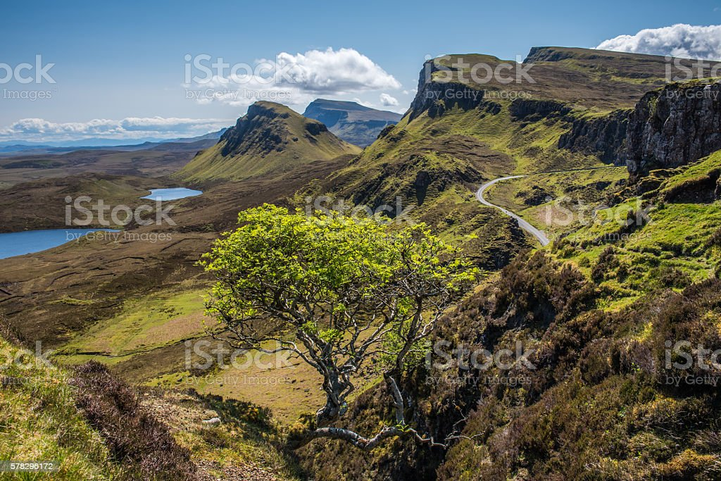 The Quiraing and Trotternish Ridge stock photo
