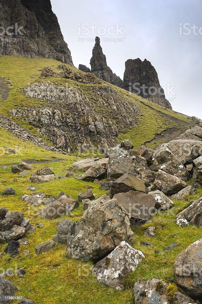 The Quiraing, Isle of Skye stock photo