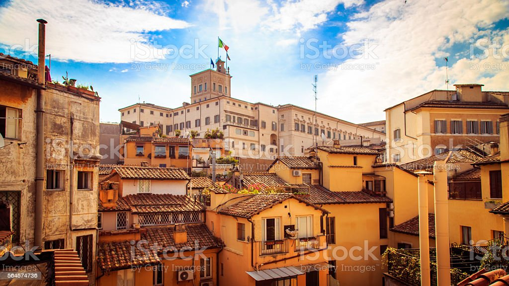 The Quirinale Palace in Rome stock photo