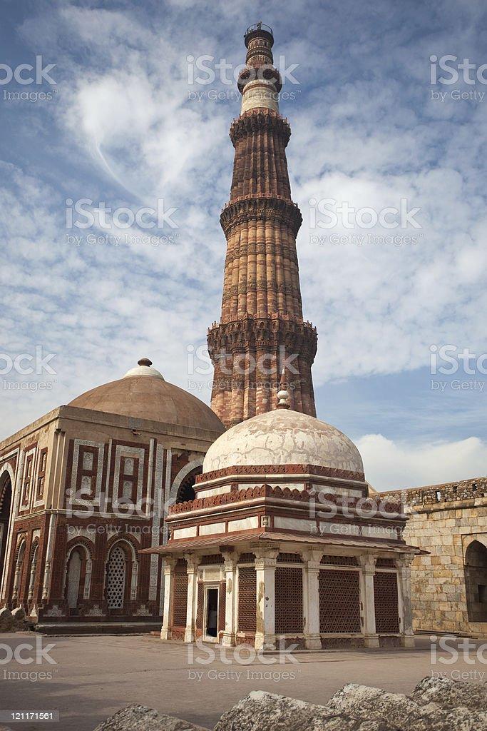The Qutb Minar stock photo