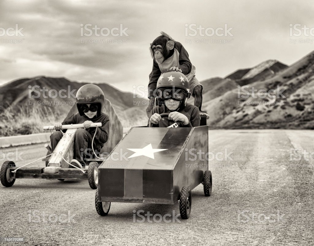 The Race royalty-free stock photo