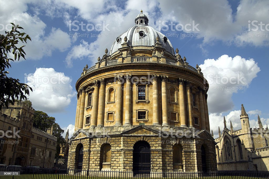 The Radcliffe Camera building located at Oxford University royalty-free stock photo