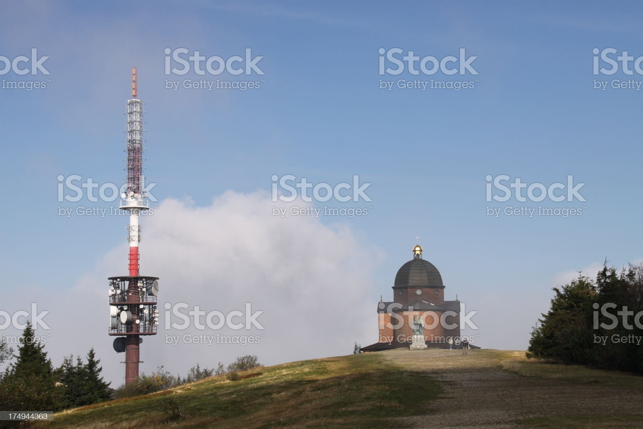 The Radhost mountain Beskydy Czech Republic royalty-free stock photo