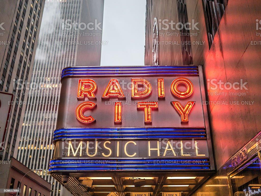 The Radio City in Winter stock photo
