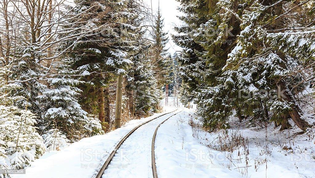 The railway between Bakuriani and Borjomi stock photo