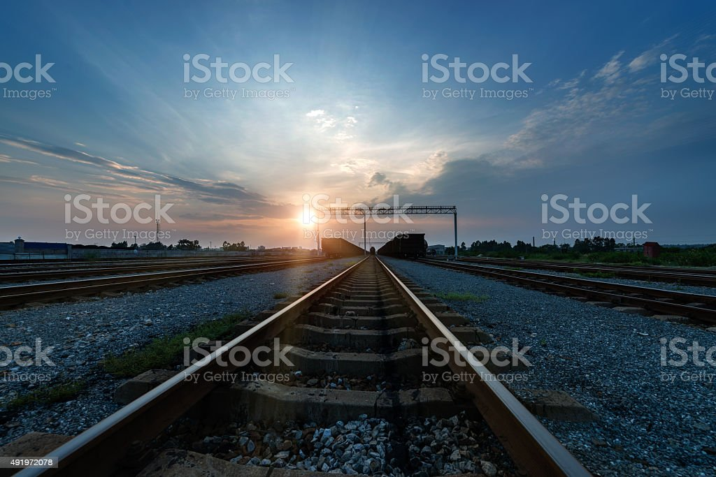 The railway stock photo