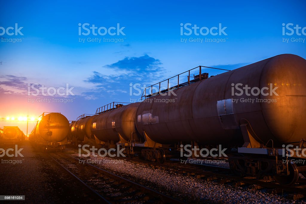 The railway tank stock photo