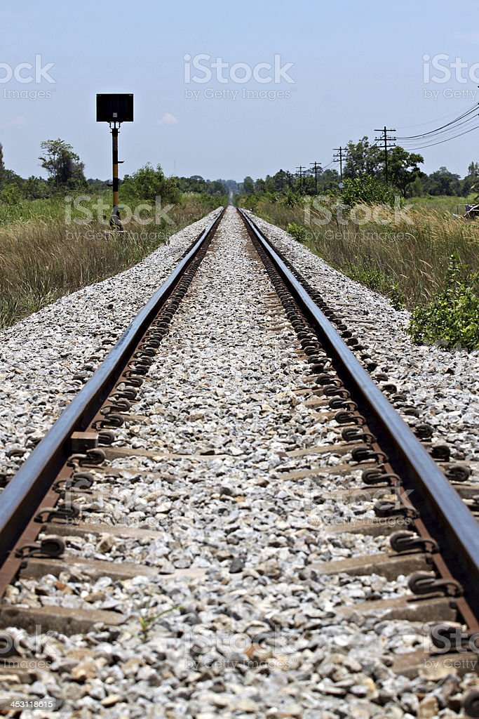The railway used to transport. royalty-free stock photo