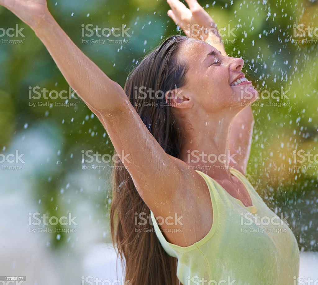 The rain is refreshing for my soul royalty-free stock photo
