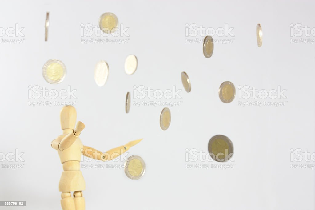 The rain of money stock photo