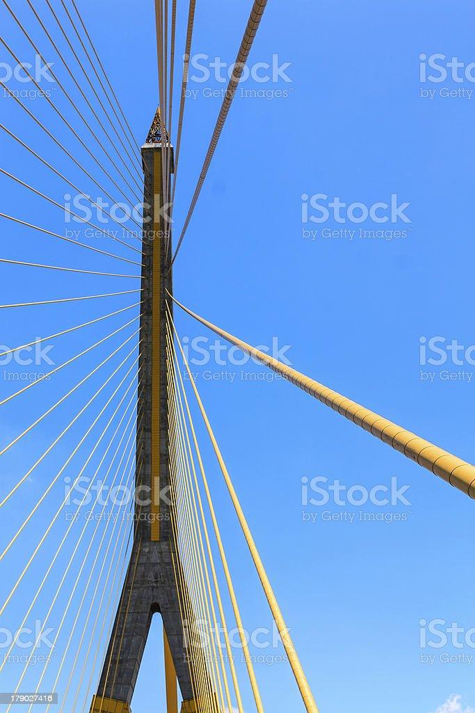 The Rama 8 Bridge stock photo