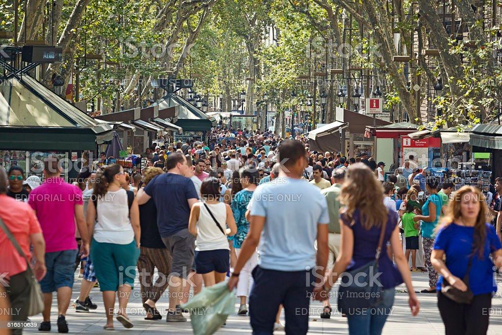 The Ramblas, Barcelona, Spain stock photo