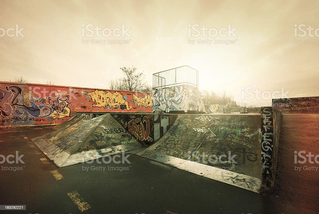 The ramp stock photo