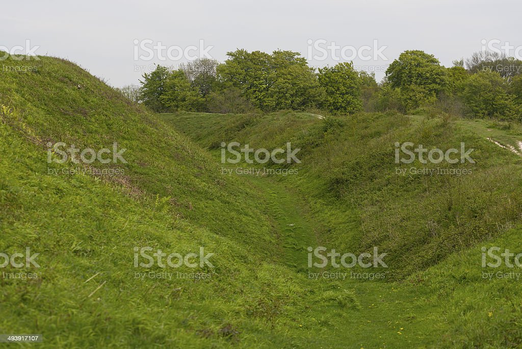 The Ramparts at Badbury Rings royalty-free stock photo