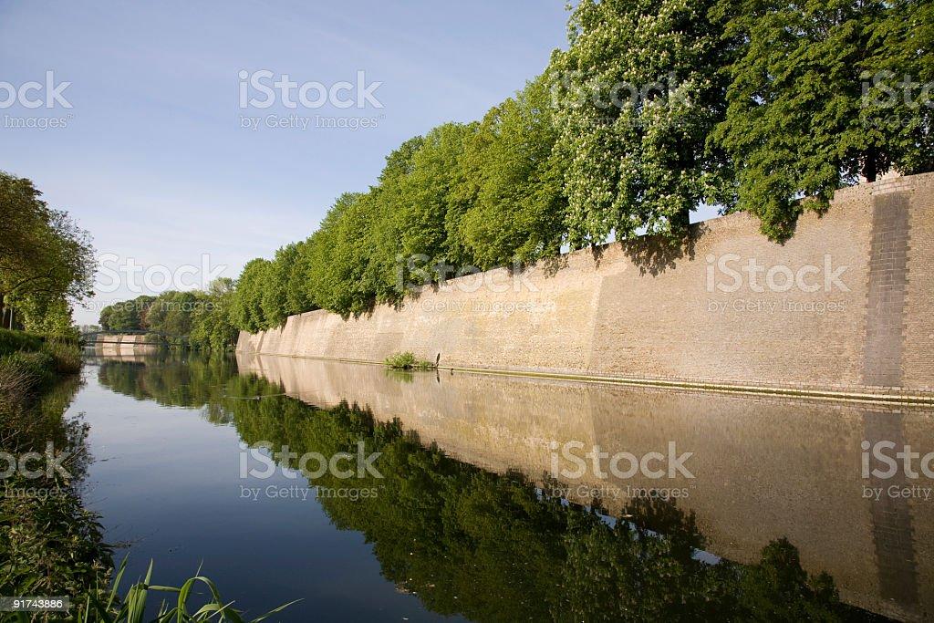 The ramparts in Ypres (Belgium) stock photo
