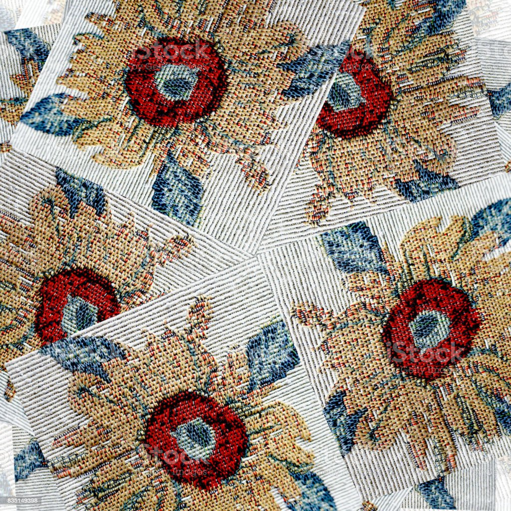 The random pattern of flowers stock photo