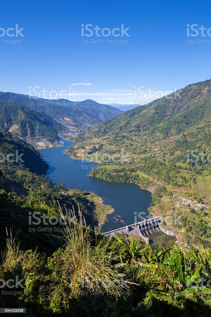 The Ranganadi Dam stock photo