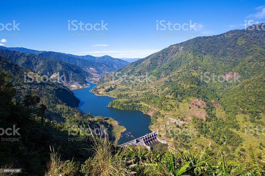 The Ranganadi Dam stock photo