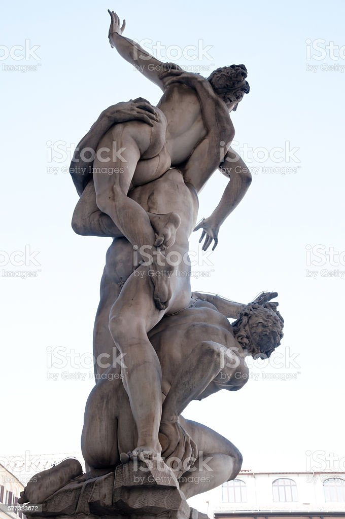 The Rape of the Sabine Women stock photo