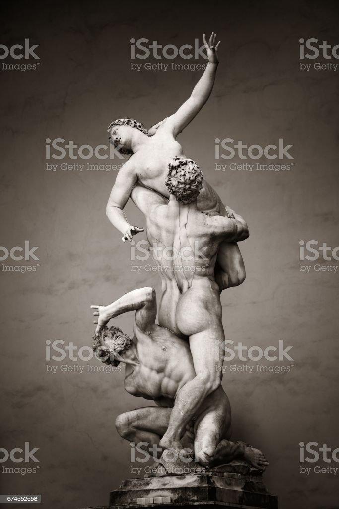 The Rape of the Sabine Women stock photo