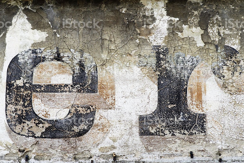 The ravages of time royalty-free stock photo