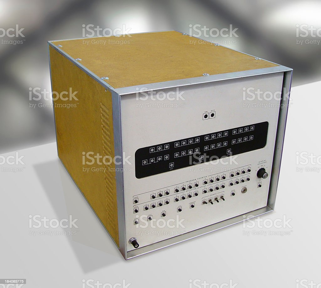 The Raytheon 704 computer royalty-free stock photo