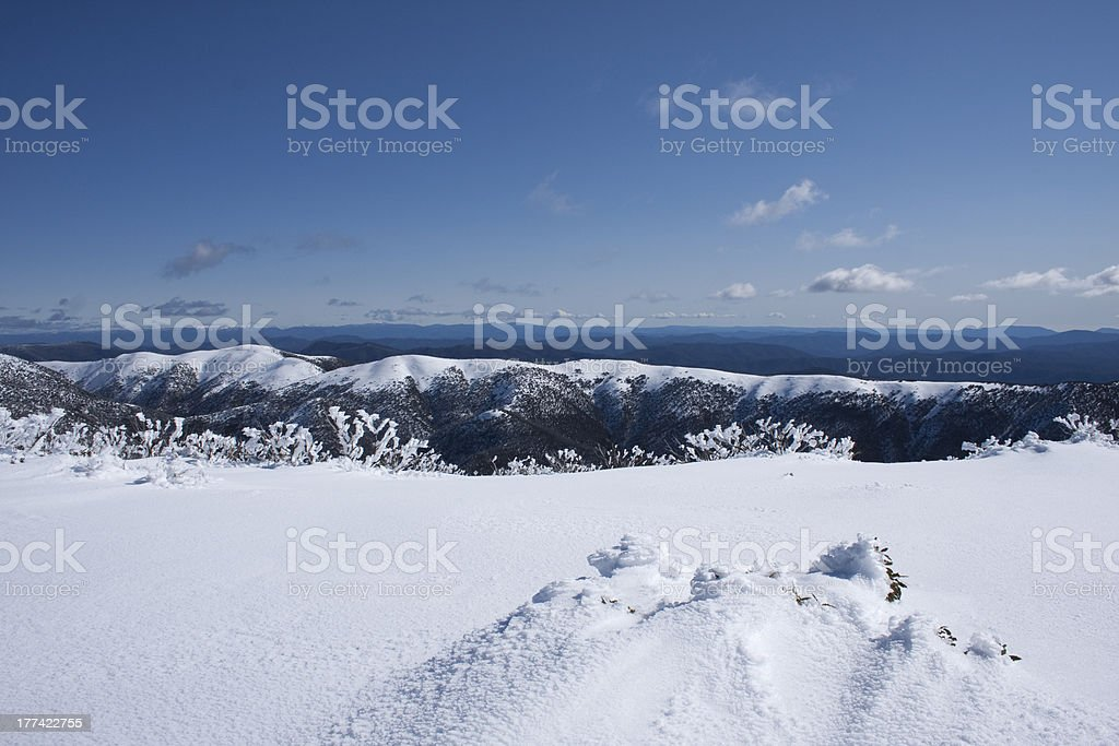 The Razorback and Mt Feathertop stock photo