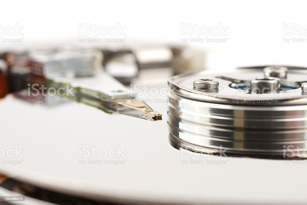 The read head hard disk royalty-free stock photo