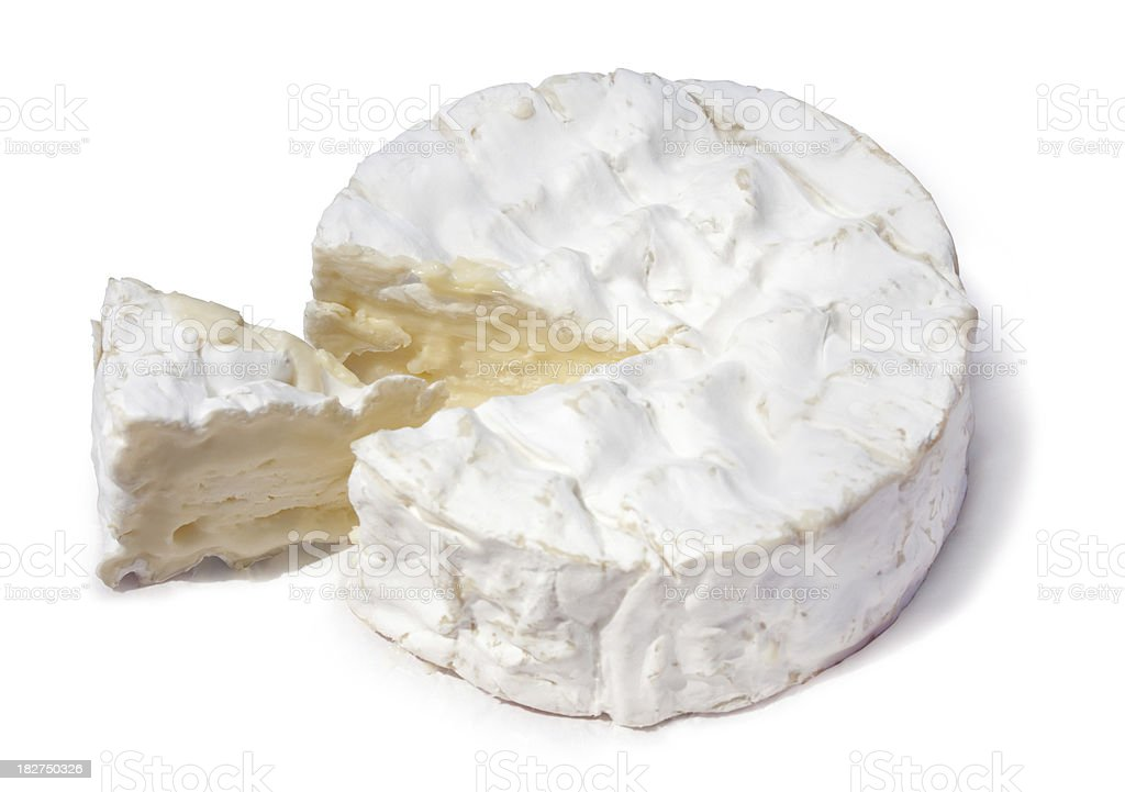 Le vrai Camembert | with clipping path stock photo