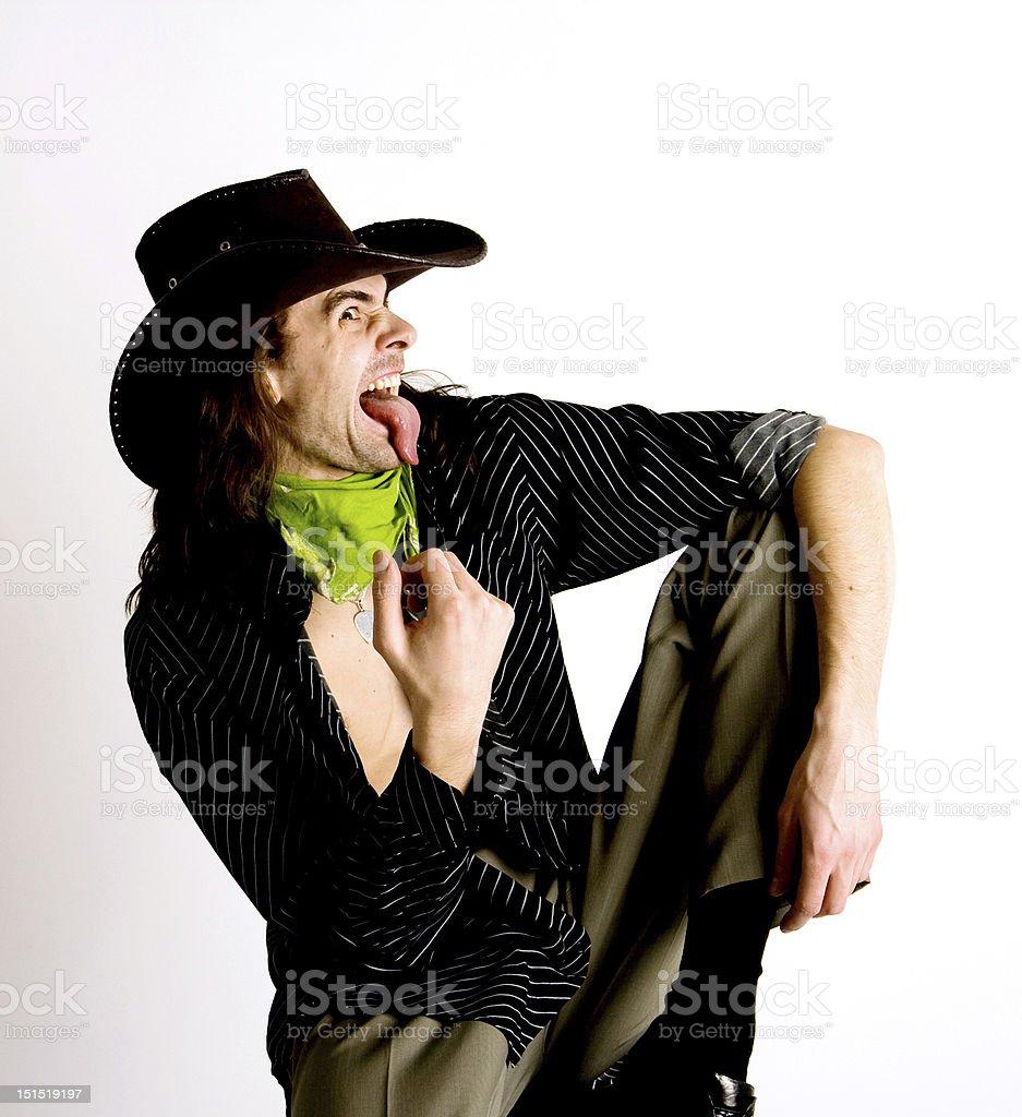 The real cowboy royalty-free stock photo
